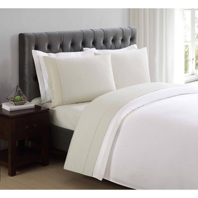 King 310 Thread Count Classic Dot Printed Cotton Sheet Set Almond Milk - Charisma