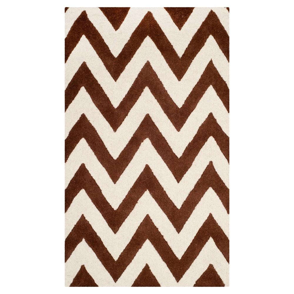 Dalton Textured Rug Dark Brown Ivory 2 39 X 3 39 Safavieh
