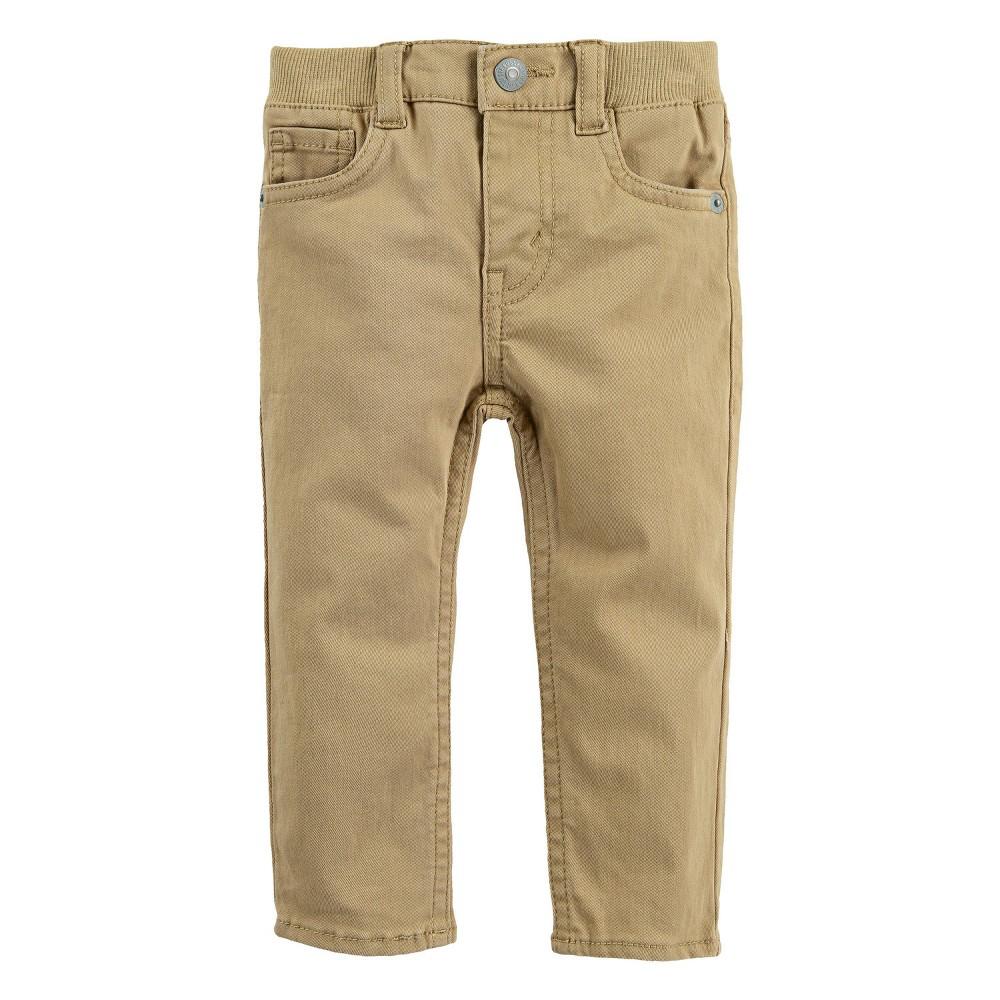 Levi 39 S 174 Baby Boys 39 Non Denim Skinny Jeans 8211 Harvest Gold Khaki 6m