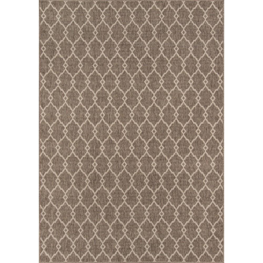 Indoor/Outdoor Fretwork Area Rug - Taupe (Brown) (8'-6 X 13')
