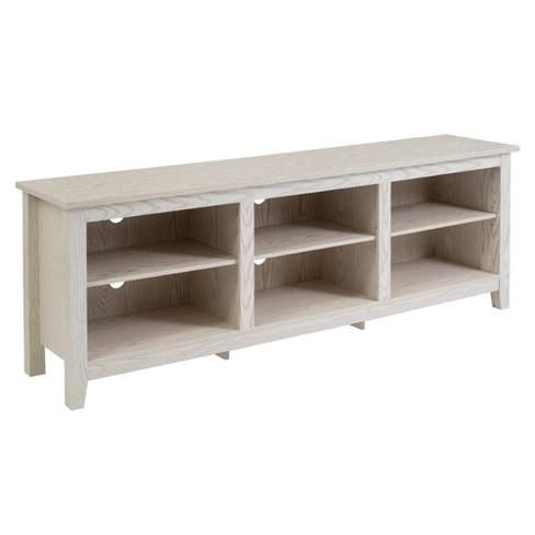 "70"" Wood Media TV Stand Storage Console - Saracina Home - image 1 of 4"