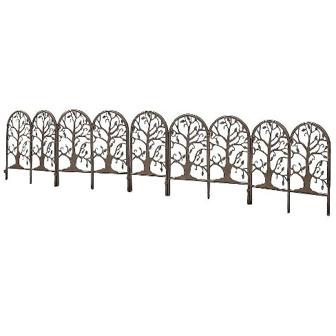 Plow & Hearth - Metal Garden Edging with Tree of Life Design - image 1 of 3