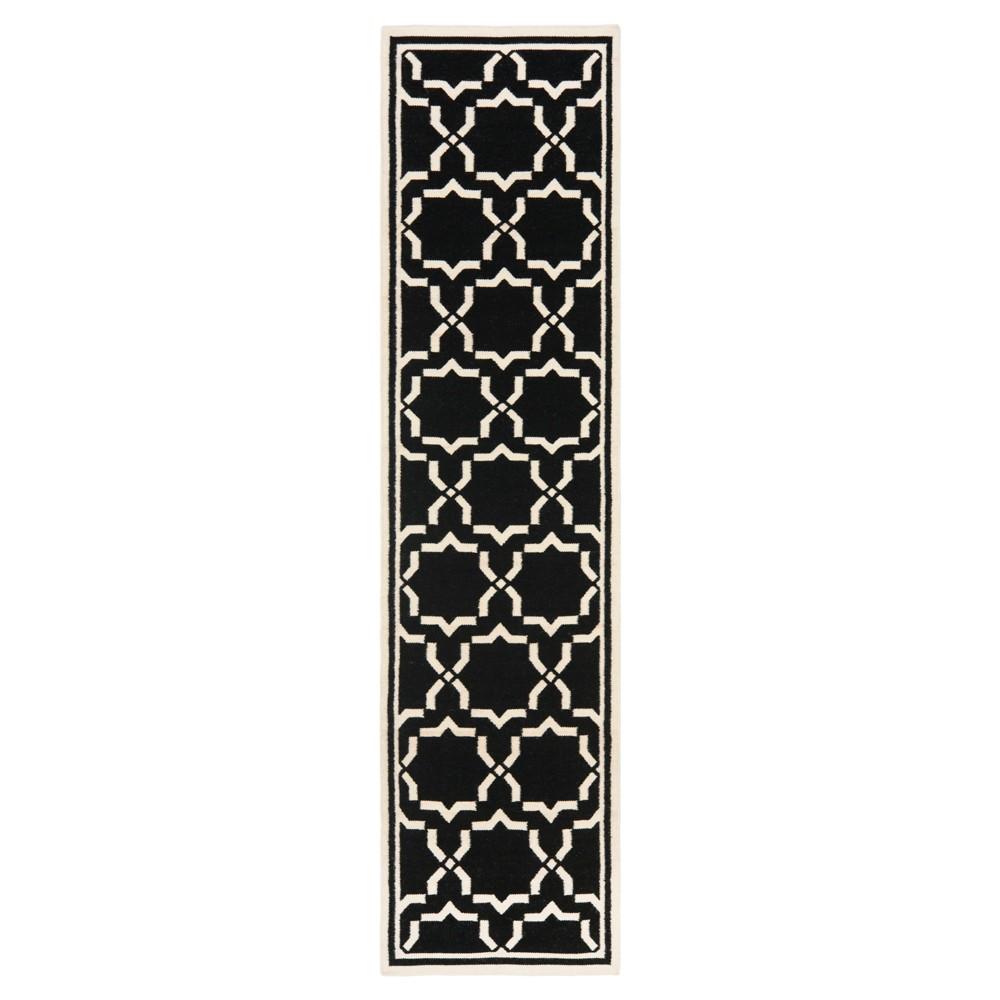 Dhurries Rug - Black/Ivory - (2'6x6') - Safavieh