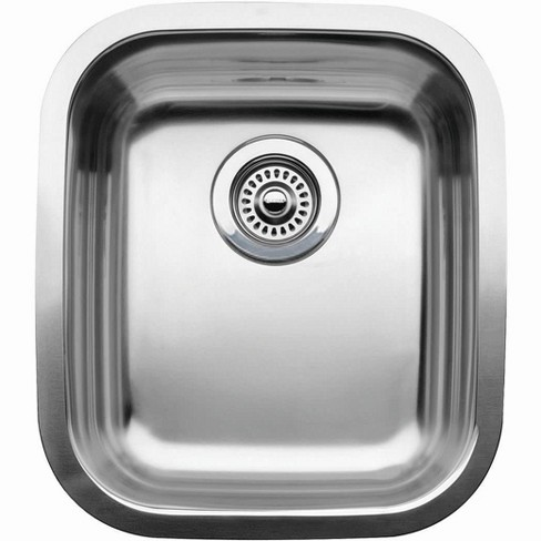 "Blanco 440247 Wave Single Basin Stainless Steel Undermount Bar Sink 15-9/16"" x 17-3/4"" - image 1 of 1"