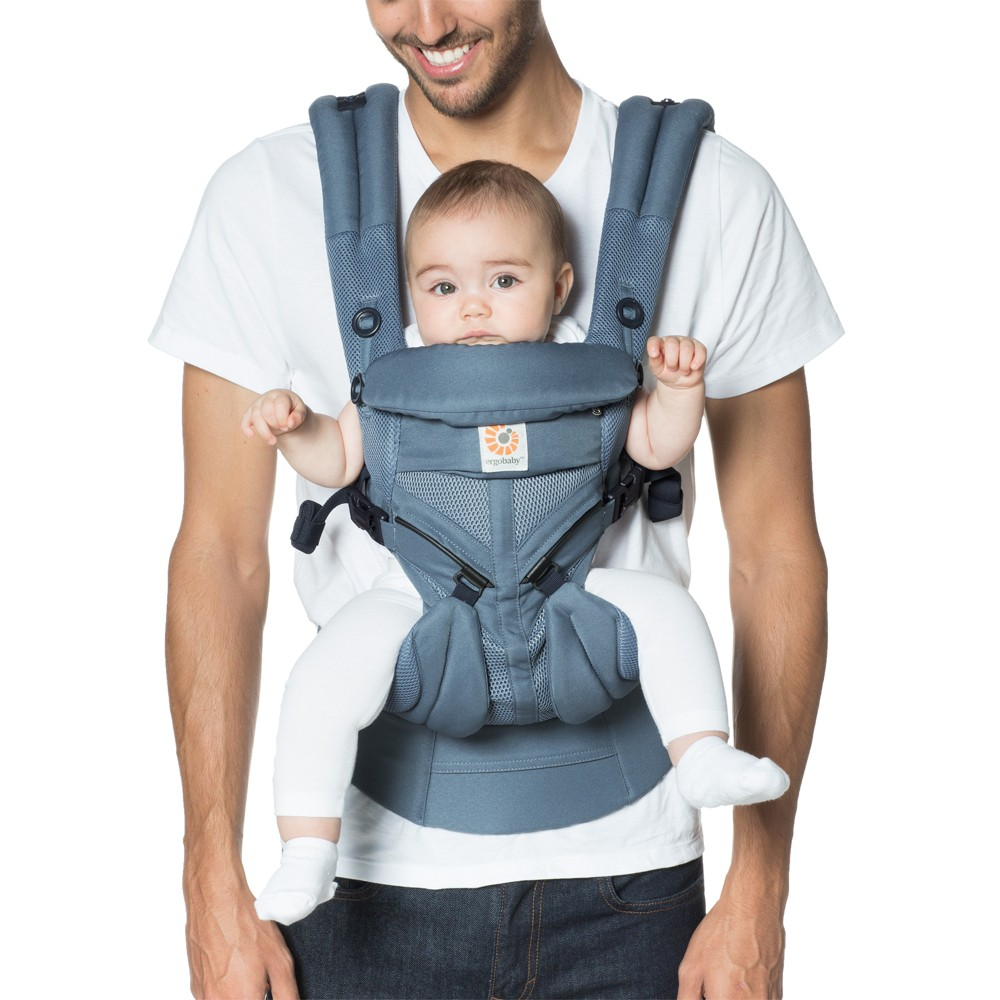 Image of Ergobaby Omni 360 Cool Air Mesh All Carry Positions Baby Carrier - Oxford Blue