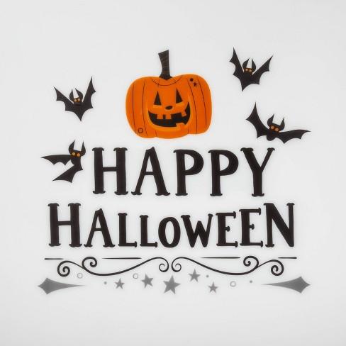 Happy Halloween Pumpkin And Bats Wall Art 21 X 5 Hyde Eek Boutique Target