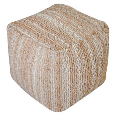 Beverly Pouf Ottoman - Beige - Christopher Knight Home