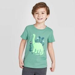 Toddler Boys' Short Sleeve Dinosaur Watering Graphic T-Shirt - Cat & Jack™ Green