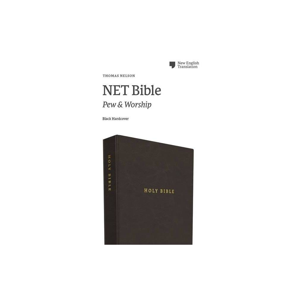 Net Bible Pew And Worship Hardcover Black Comfort Print By Thomas Nelson