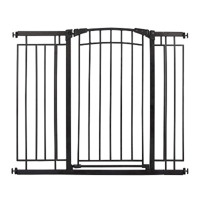 "Evenflo 36"" Adjustable Multi Use Metal Décor Indoor Baby Pet Safety Gate, Black"
