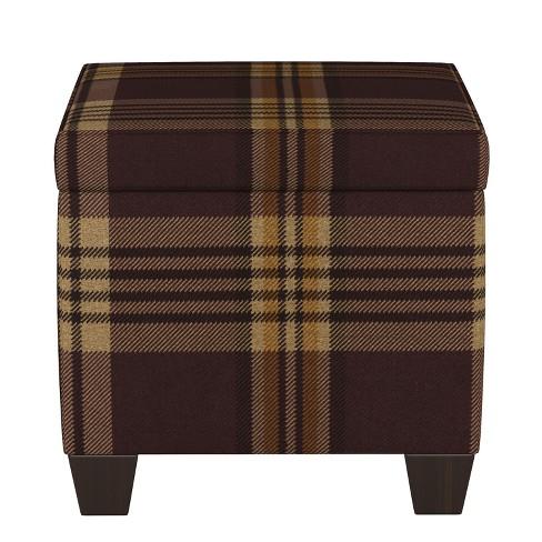 Astonishing Storage Ottomans Purple Plaid Threshold Machost Co Dining Chair Design Ideas Machostcouk