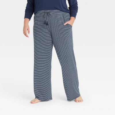 Women's Striped Beautifully Soft Pajama Pants - Stars Above™ Navy