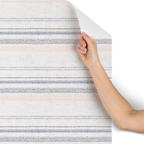 "2""x8"" Holli Zollinger French Stripe Navy Wallpaper Gray - Deny Designs"
