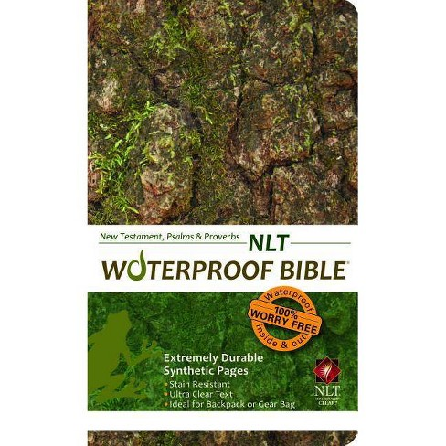 Waterproof New Testament with Psalms and Proverbs-NLT-Tree Bark -  (Paperback)