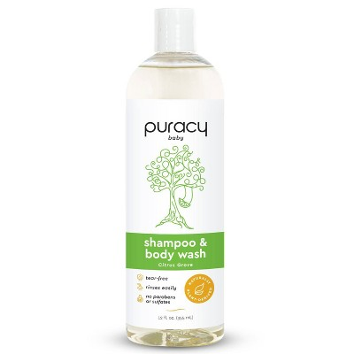 Puracy Natural Baby Shampoo & Body Wash Tear-free and Sulfate-free Citrus Grove Fragrance - 12 fl oz