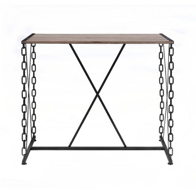 Jodie Bar Table Rustic Oak/Antique Black - Acme Furniture