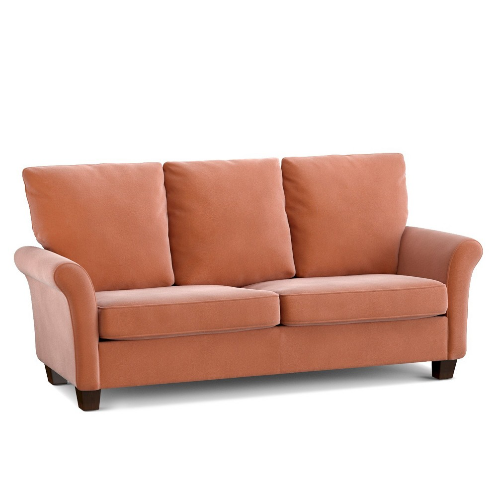Image of Randy SoFast Sofa - Orange Velvet - Handy Living