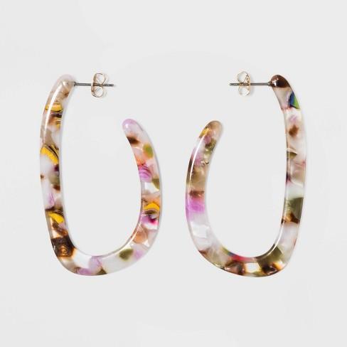 Acrylic Half Hoop Earrings - A New Day™ - image 1 of 2
