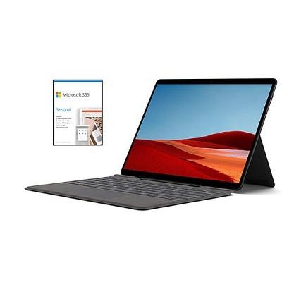 "Microsoft Surface Pro X VALUE BUNDLE 13"" Microsoft SQ2 16GB RAM 256GB SSD WiFi+4G LTE Matte Blk + Microsoft 365 Personal 1 Yr Subscription For 1 User"