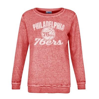NBA Philadelphia 76ers Women's Distressed Classic Sweatshirt