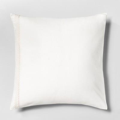 Euro Pillow Sham Embroidered Tonal Cream - Hearth & Hand™ with Magnolia