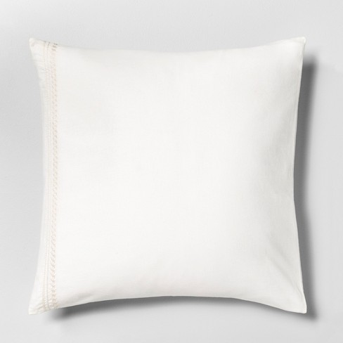 Euro Pillow Sham Embroidered Hearth Hand With Magnolia