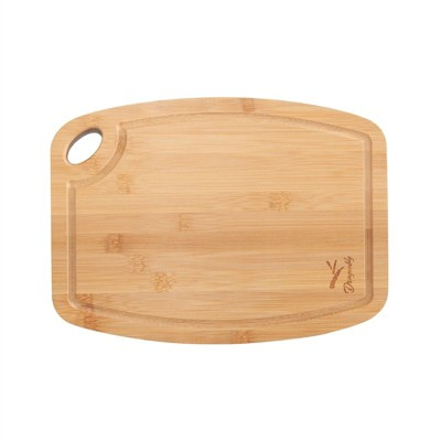 Bamboo Medium Chopping Board with Juice Groove in Natural Brown-Pemberly Row