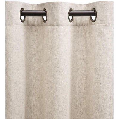 "Plow & Hearth - Energy Efficient Grommet-Top Insulated Curtain, 40"" W x 96'' L, Linen"