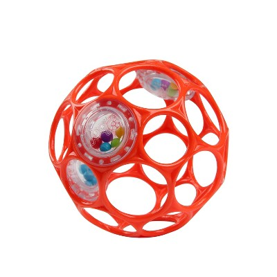Oball Toy Ball Rattle - Red