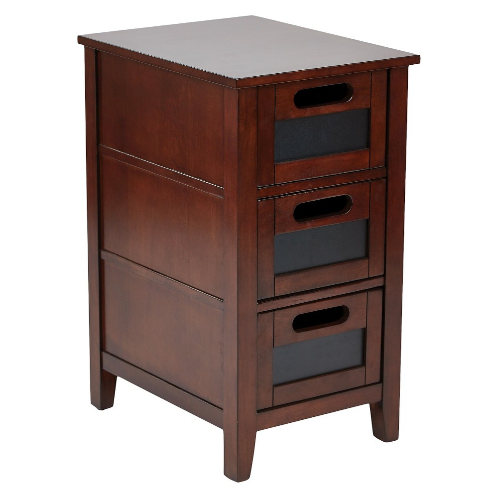 Avery Chair Side Table Saddle Finish - Office Star