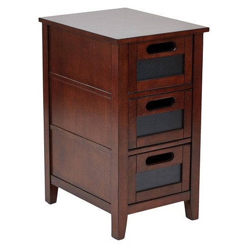 Avery Chair Side Table Saddle Finish Office Star