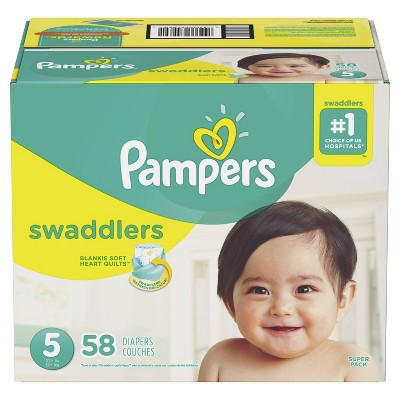 Pampers Swaddlers Diapers Super Pack - Size 5 (58ct)