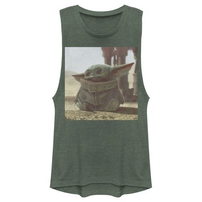 Junior's Star Wars The Mandalorian The Child Square Frame Festival Muscle Tee
