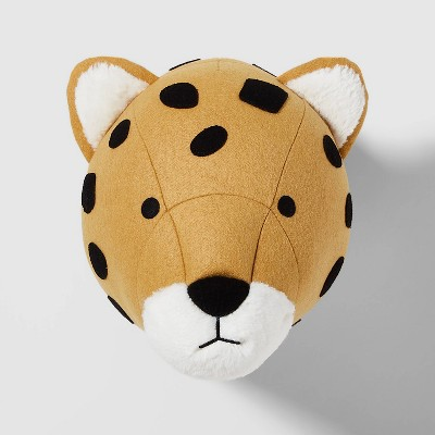 Animal Wall Decor Felt Cheetah Yellow - Pillowfort™