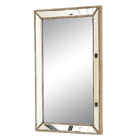 Rectangle Adora Decorative Wall Mirror Gold - Abbyson Living - image 1 of 4