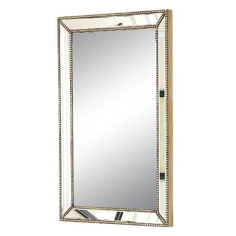 Rectangle Adora Decorative Wall Mirror Gold Abbyson Living