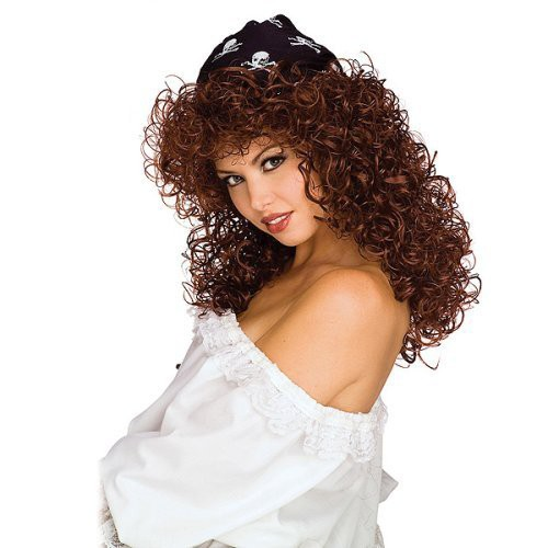 Halloween Pirate Wig Women's Brown, Costume hair
