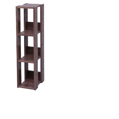IRIS Slim Open Wood Rack Shelf Brown