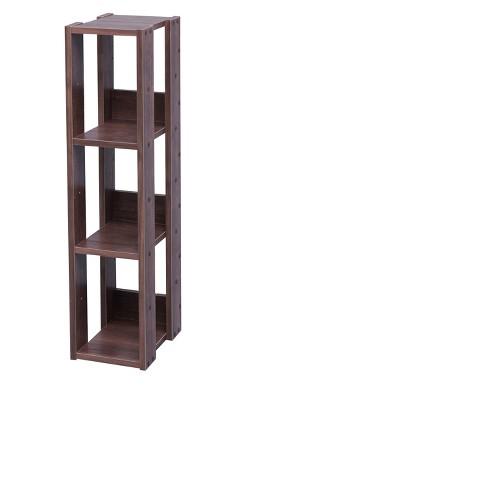 IRIS Slim Open Wood Rack Shelf Brown - image 1 of 4
