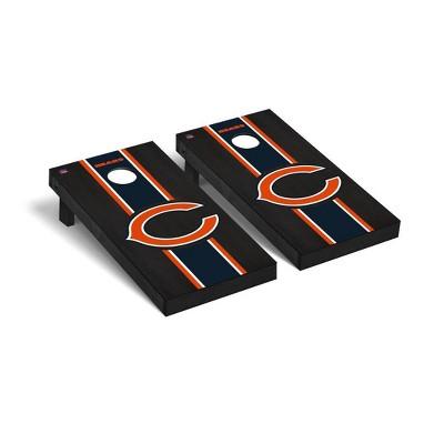 NFL Chicago Bears 2'x4' Premium Cornhole Board Onyx Stained Stripe Version