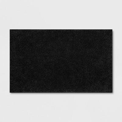 Soft Solid Bath Mat Black - Opalhouse™