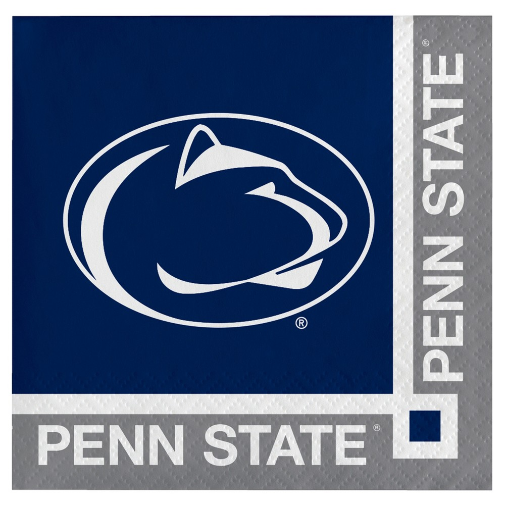 Image of 20ct Penn State Nittany Lions Cocktail Beverage Napkins