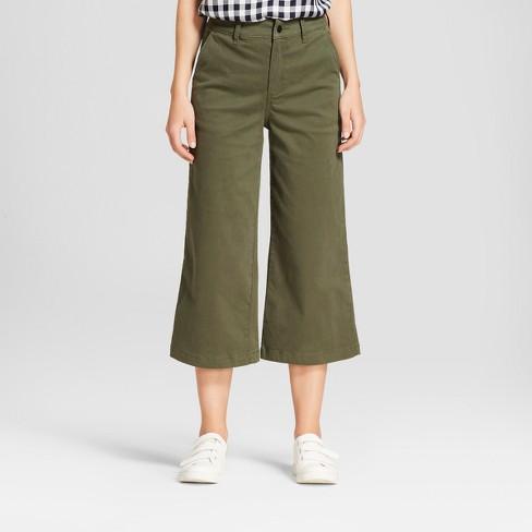 98bcf9a179cc Women s Wide Leg Crop Pants - A New Day™   Target