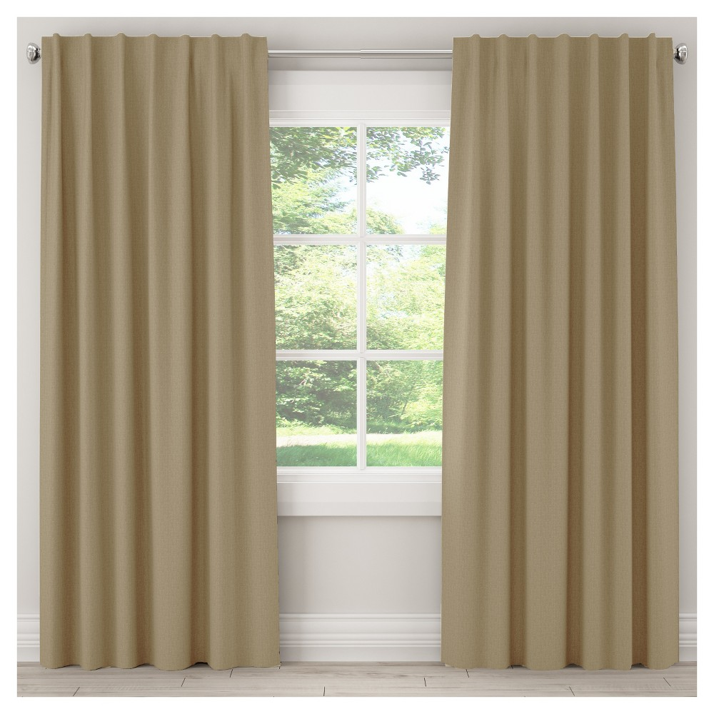 Unlined Zuma Curtain Panel Tan (50