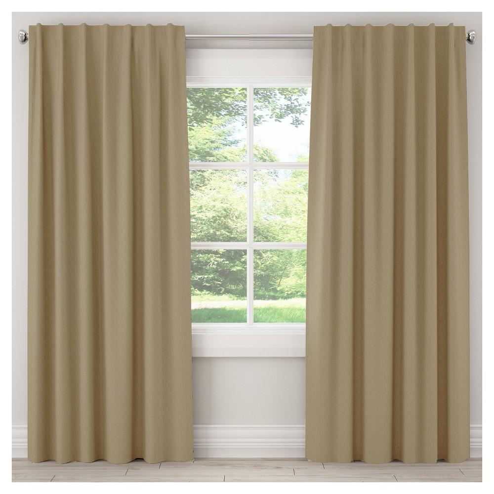 Unlined Zuma Curtain Panel Tan (50