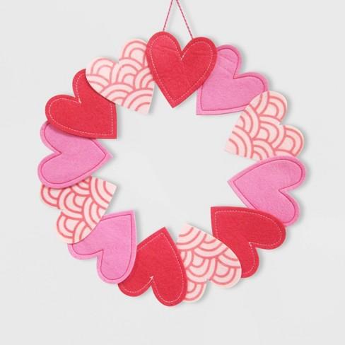 Valentine's Felt Heart Wreath - Spritz™ - image 1 of 1