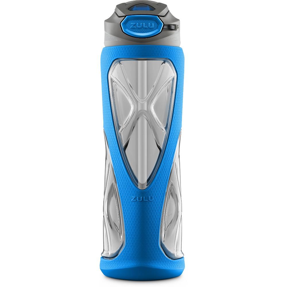Zulu Vapor 24oz Bpa-Free Plastic Water Bottle with Flip Straw - Blue