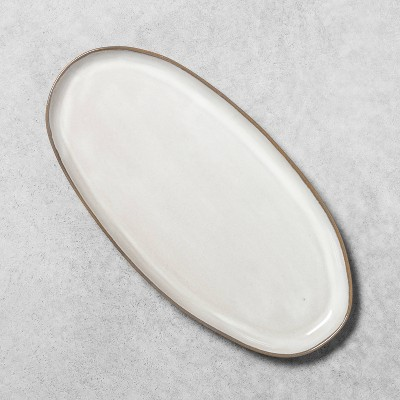 Stoneware Reactive Glaze Oval Serve Tray - Hearth & Hand™ with Magnolia