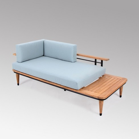 Teak Daybed With Cushion Blue Cambridge Casual Target
