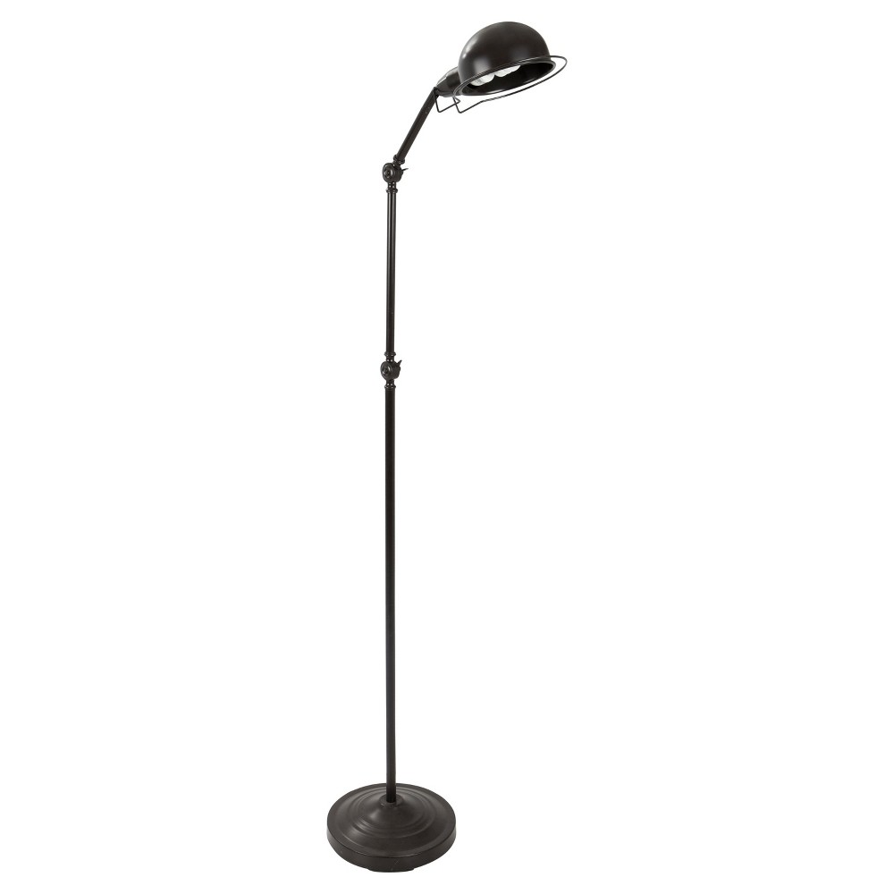 Image of Banks Industrial Floor Lamp Antique (Lamp Only) - Lumisource, Brown